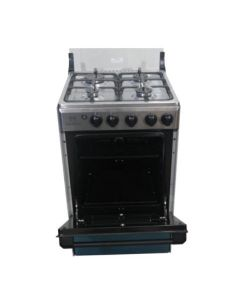 NASCO 4 BURNER GAS COOKER WITH GRILL, SILVER