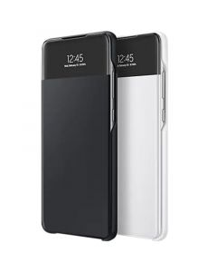 SAMSUNG GALAXY A72 SMART S VIEW WALLET COVER - BLACK