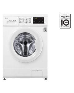 LG Front Load (Wash Only) Washine Machine 7kg, White, Inverter Direct Drive Motor, 6 Motion DD, Smart Diagnosis