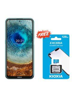 NOKIA X10 128GB 6GB RAM - FOREST GREEN + FREE KIOXIA SD CARD 128GB