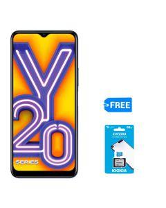 VIVO Y20 64GB HDD, 4GB RAM + FREE KIOXIA SD CARD 64GB